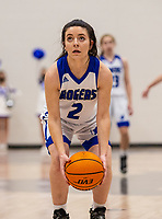 Aubrey Treadwell (2) of Rogers at the free throw line against Fayettevile at King Arena, Rogers, AR January 8, 2021 / Special to NWA Democrat-Gazette/ David Beach