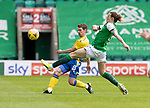 Hibs v St Johnstone…01.05.21  Easter Road. SPFL<br />Craig Bryson and Jackson Irvine<br />Picture by Graeme Hart.<br />Copyright Perthshire Picture Agency<br />Tel: 01738 623350  Mobile: 07990 594431