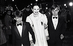 Gloria Vanderbilt with her two sons Anderson Cooper & Carter Vanderbilt Cooper on October 1, 1985 attending Night of 100 Stars at Radio City Music Hall in New York City.