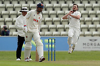 Ed Barnard of Worcestershire in bowling action during Worcestershire CCC vs Essex CCC, LV Insurance County Championship Group 1 Cricket at New Road on 29th April 2021