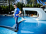 Colombian Singer Juanes photographed for Latina Magazine at the Raleigh Hotel in Miami Beach, Florida on August 3, 2007.