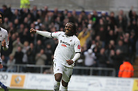 Pictured: Jason Scotland of Swansea City celebrates his goal <br /> Re: Coca Cola Championship, Swansea City FC v Doncaster Rovers at the Liberty Stadium. Swansea, south Wales, Saturday 21 February 2009<br /> Picture by D Legakis Photography / Athena Picture Agency, Swansea 07815441513