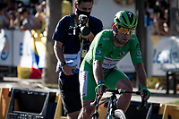 A disappointed Green Jersey / points leader Mark Cavendish (GBR/Deceuninck - Quick Step) after not winning on the Champs-Elysées<br /> <br /> Stage 21 (Final) from Chatou to Paris - Champs-Élysées (108km)<br /> 108th Tour de France 2021 (2.UWT)<br /> <br /> ©kramon