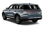 Car pictures of rear three quarter view of 2021 Lincoln Aviator - 5 Door SUV Angular Rear