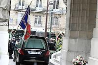 Obseques de Michele Morgan - Service religieux en l'Èglise Saint-Pierre de Neuilly-sur-Seine le 23 decembre 2016