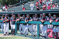 STANFORD, CA - MAY 29: Team before a game between Oregon State University and Stanford Baseball at Sunken Diamond on May 29, 2021 in Stanford, California.