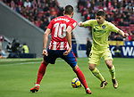 Francisco Portillo Soler (R) of Getafe CF fights for the ball with Yannick Ferreira Carrasco of Atletico de Madrid during the La Liga 2017-18 match between Atletico de Madrid and Getafe CF at Wanda Metropolitano on January 06 2018 in Madrid, Spain. Photo by Diego Gonzalez / Power Sport Images