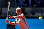 Svetlana Kuznetsova from Russia during her Madrid Open tennis tournament match against Maria Sharapova from Russia in Madrid, Spain. May 08, 2015. (ALTERPHOTOS/Victor Blanco)