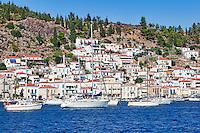 Poros island in Saronic gulf, Greece