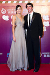 HAIKOU, CHINA - OCTOBER 29:  Michael Phelps (R)  of USA and Hong Kong model Lisa S attend red carpet during day three of the Mission Hills Start Trophy tournament at Mission Hills Resort on October 29, 2010 in Haikou, China. Photo by Victor Fraile / The Power of Sport Images