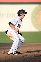 Connor Justus (22) of the Inland Empire 66ers runs the bases during a game against the Rancho Cucamonga Quakes at San Manuel Stadium on July 9, 2017 in San Bernardino, California. Inland Empire defeated Rancho Cucamonga 12-2. (Larry Goren/Four Seam Images)