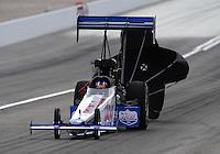Nov. 1, 2008; Las Vegas, NV, USA: NHRA top fuel dragster driver J.R. Todd during qualifying for the Las Vegas Nationals at The Strip in Las Vegas. Mandatory Credit: Mark J. Rebilas-