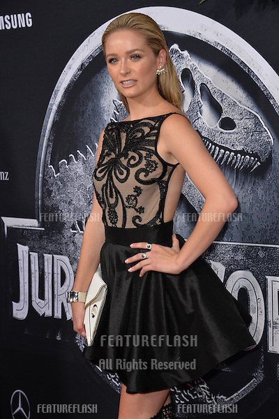 """Greer Grammer at the world premiere of """"Jurassic World"""" at the Dolby Theatre, Hollywood.<br /> June 10, 2015  Los Angeles, CA<br /> Picture: Paul Smith / Featureflash"""