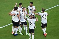 celebrate the goal, Torjubel zum 3:1 Kai Havertz (Deutschland Germany) mit Serge Gnabry (Deutschland Germany)<br /> - Muenchen 19.06.2021: Deutschland vs. Portugal, Allianz Arena Muenchen, Euro2020, emonline, emspor, <br /> <br /> Foto: Marc Schueler/Sportpics.de<br /> Nur für journalistische Zwecke. Only for editorial use. (DFL/DFB REGULATIONS PROHIBIT ANY USE OF PHOTOGRAPHS as IMAGE SEQUENCES and/or QUASI-VIDEO)