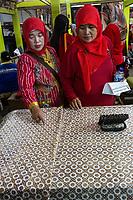 Yogyakarta, Java, Indonesia.  Women's Group Visiting Batik Workshop.