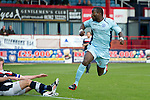 Dundee v St Johnstone....29.09.12      SPL.Gregory Tade makes it 1-0 to saints.Picture by Graeme Hart..Copyright Perthshire Picture Agency.Tel: 01738 623350  Mobile: 07990 594431