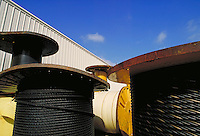 Numerous reels of stranded cable. Houston Texas.