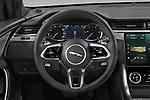 Car pictures of steering wheel view of a 2021 Jaguar XF-Sportbrake R-Dynamic-S 5 Door Wagon Steering Wheel