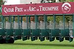 October 07, 2018, Longchamp, FRANCE - Starting gate for the Prix de l'Arc de Triomphe at ParisLongchamp Race Course  [Copyright (c) Sandra Scherning/Eclipse Sportswire)]