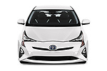 Car photography straight front view of a 2018 Toyota Prius Lounge 5 Door Hatchback