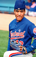 Wil Cordero of the Montreal Expos during a 1995 season game at Dodger Stadium in Los Angeles,California.(Larry Goren/Four Seam Images)