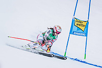 28th December 2020; Semmering, Austria; FIS Womens Giant Slalom World Cu Skiing;  Coralie Frasse Sombet of France in action during her 1st run of women Giant Slalom of FIS ski alpine world cup at the Panoramapiste in Semmering