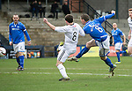 Raith Rovers v St Johnstone....08.03.14    Scottish Cup Quarter Final<br /> Gary McDonald scores for St Johnstone<br /> Picture by Graeme Hart.<br /> Copyright Perthshire Picture Agency<br /> Tel: 01738 623350  Mobile: 07990 594431