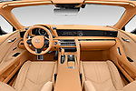 Stock photo of straight dashboard view of 2021 Lexus LC-Convertible 500 2 Door Convertible Dashboard