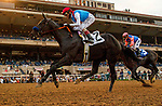 DEL MAR, CA  AUGUST 29: #2 Medina Spirit ridden by John Velasquez, hold off #3 Rock Your World ridden by Umberto Rispoli, to win the Shared Belief Stakes on August 29, 2021 at Del Mar Thoroughbred Club in Del Mar, CA. (Photo by Casey Phillips/Eclipse Sportswire/CSM)