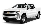 2019 Chevrolet Silverado-1500 LT 4 Door Pick-up Angular Front automotive stock photos of front three quarter view