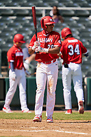 Lonnie White Jr. (20) bats during the Baseball Factory All-Star Classic at Dr. Pepper Ballpark on October 4, 2020 in Frisco, Texas.  Lonnie White Jr. (20), a resident of Coatesville, Pennsylvania, attends Malvern Preparatory School.  (Ken Murphy/Four Seam Images)