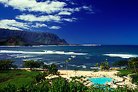 View of Hanalei Bay from Princeville Hotel on Kauai
