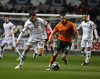 Pictured: Àngel Rangel of Swansea City in action <br /> Picture by D Legakis / Athena Picture Agency, Swansea, 07815441513