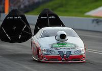 Jun. 19, 2011; Bristol, TN, USA: NHRA pro stock driver Mike Edwards during the Thunder Valley Nationals at Bristol Dragway. Mandatory Credit: Mark J. Rebilas-
