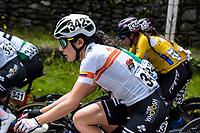 PEREIRA - COLOMBIA, 18-06-2021: Prueba de ruta categoría damas Sub23 y élite con un circuito de 107.3 kilómetros, por las calles de la ciudad de Pereira. Campeonatos Nacionales de Ciclismo de Ruta se realiza entre el 17 y el 20 de junio de 2021 en el departamento de Risaralda, dividida en contrarreloj y el circuito. La carrera cuenta con las categorías damas elites y sub 23; y hombres sub 23 y elites. / Ladies Sub23 and elite category road test with a 107.3 kilometer circuit, through the streets of the city of Pereira. National Road Cycling Championships is held between June 17 and 20, 2021 in the department of Risaralda, divided into time trial and circuit. The race has the categories ladies elites and sub 23; and men under 23 and elites . Photo: VizzorImage / Santiago Castro / Cont