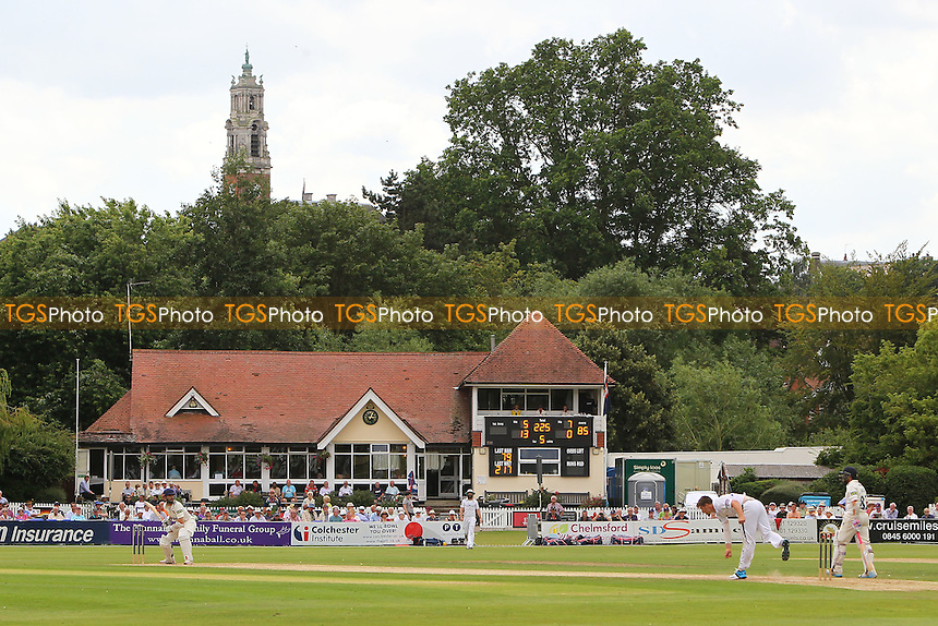 General view of play looking towards the pavilion on Day Three - Essex CCC vs Hampshire CCC - LV County Championship Division Two Cricket at Castle Park, Colchester, Essex - 15/07/14 - MANDATORY CREDIT: Gavin Ellis/TGSPHOTO - Self billing applies where appropriate - contact@tgsphoto.co.uk - NO UNPAID USE