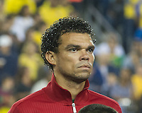 Portugal defender Pepe (3).  In an International friendly match Brazil defeated Portugal, 3-1, at Gillette Stadium on Sep 10, 2013.