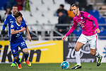Kitchee Midfielder Krisztian Vadocz (R) in action during their AFC Champions League 2017 Playoff Stage match between Ulsan Hyundai FC (KOR) vs Kitchee SC (HKG) at the Ulsan Munsu Football Stadium on 07 February 2017 in Ulsan, South Korea. Photo by Chung Yan Man / Power Sport Images