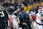 Baylor Bears quarterback Jarrett Stidham (3) in action during the game between the Oklahoma Sooners and the Baylor Bears at the McLane Stadium in Waco, Texas. OU defeats Baylor 44 to 34.