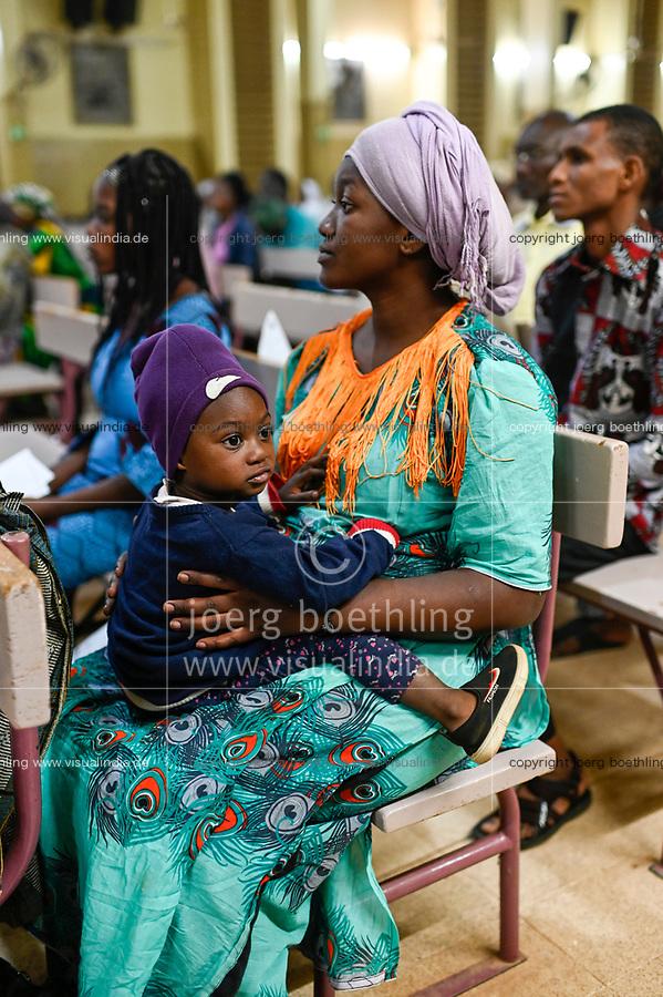 NIGER, Niamey, catholic church, mass in cathedral / katholische Kirche, Kathedrale, Messe