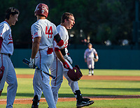 STANFORD, CA - JUNE 5: Christian Robinson, Kody Huff during a game between UC Irvine and Stanford Baseball at Sunken Diamond on June 5, 2021 in Stanford, California.