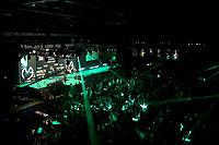 25th May 2021; Marshall Arena, Milton Keynes, Buckinghamshire, England; Professional Darts Corporation, Unibet Premier League Night 14 Milton Keynes; The crowd watch as Gary Anderson walks onto the stage