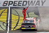 #20: Christopher Bell, Joe Gibbs Racing, Toyota Camry Ruud celebrates his win