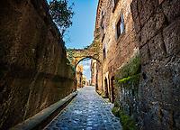 Walkway at Civita di Bagnoregio, Italy