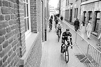 Team Bora-Hansgrohe on their way to sign-in<br /> <br /> 72nd Dwars Door Vlaanderen (1.UWT)<br /> 1day race: Roeselare › Waregem BEL (203.4km)