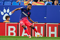 12th September 2021: Barcelona, Spain:  Thomas Lemar of Atletico de Madrid with a cross into the box during the Liga match between RCD Espanyol and Atletico de Madrid at RCDE Stadium in Cornella, Spain.
