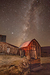 Bodie Califrornia is a old minning ghost town at night.