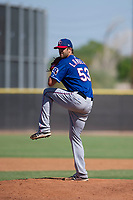 Texas Rangers pitcher Greyson Lambert (53) delivers a pitch to the plate during an Instructional League game against the San Diego Padres on September 20, 2017 at Peoria Sports Complex in Peoria, Arizona. (Zachary Lucy/Four Seam Images)