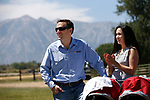 Nevada Attorney General Adam Laxalt and his wife Jaime listen to speakers at the 4th annual Basque Fry in Gardnerville, Nev., on Saturday, Aug. 25, 2018. Hosted by the Morning in Nevada PAC, the event is a fundraiser for conservative candidates and issues and includes traditional Basque dishes like deep-fried lamb testicles.(Cathleen Allison/Las Vegas Review Journal)