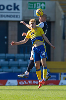 3rd April 2021; Dens Park, Dundee, Scotland; Scottish FA Cup Football, Dundee FC versus St Johnstone; Charlie Adam of Dundee competes in the air with Ali McCann of St Johnstone